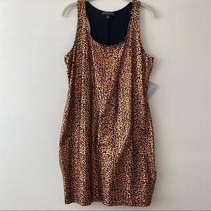 NWT Forever 21 Foil Leopard Print Bodycon Dress 1X